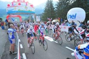 Partenza della 25esima edizione Maratona dles Dolomites