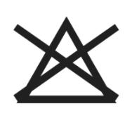simbolo candeggio etichetta tessuti