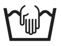 simbolo lavaggio a mano etichetta tessuti