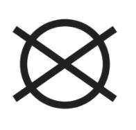 simbolo non lavare a secco etichetta tessuti